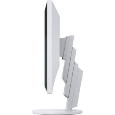 Монитор EIZO FlexScan EcoView Ultra-Slim EV2451-WT, IPS, 23.8 inch, Wide, Full HD, D-Sub, DVI-D, HDMI, DisplayPort, Бял