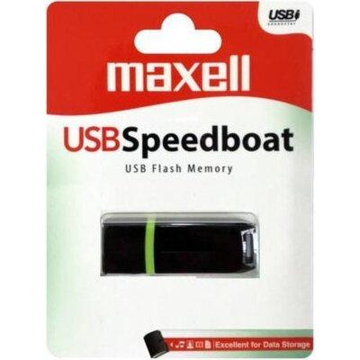 USB памет MAXELL SPEEDBOAT, USB 2.0, 4GB, ЧЕРЕН