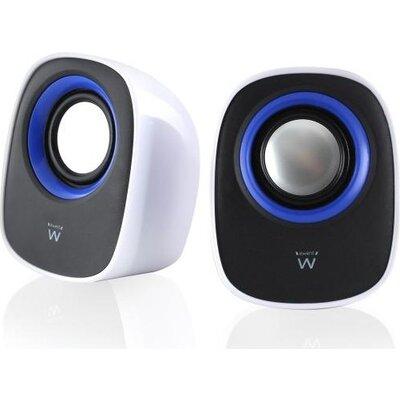 Тонколонки Ewent EW3513, USB, 2.0, 2.5W x 2, Бял