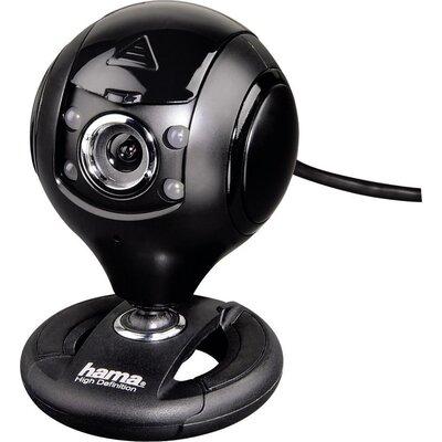 Уеб камера HAMA Spy Protect, HD, микрофон, Черна