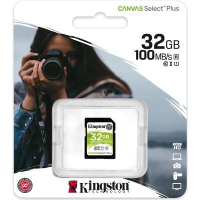 Карта памет Kingston Canvas Select Plus SD 32GB, Class 10 UHS-I
