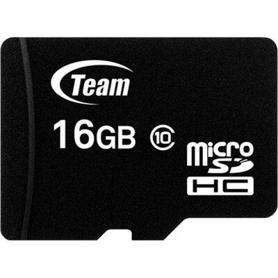 Карта памет TEAM micro SDHC, 16GB, Class 10 с SD адаптер