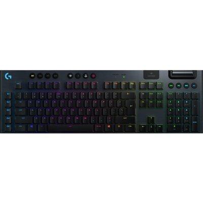 Безжична геймърска механична клавиатура Logitech G915 Lightsync RGB Clicky суичове - G915