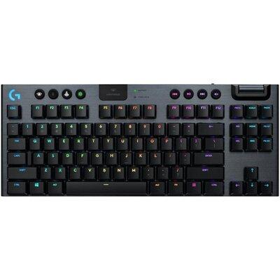 Безжична геймърска механична клавиатура Logitech, G915 TKL Black Lightsync RGB, GL Linear суичове