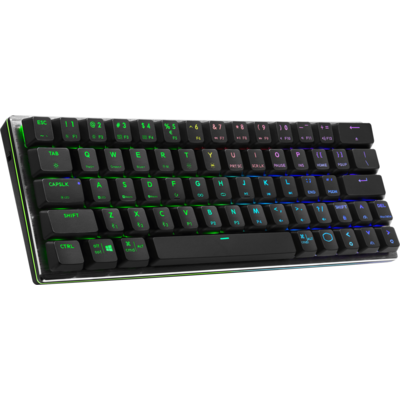 Геймърска Механична Клавиатура Cooler Master SK622 Space Gray, RGB, Red Switches, Low Profile