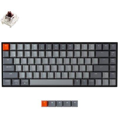 Геймърска Механична клавиатура Keychron K2 Hot-Swappable Compact Gateron Brown Switch RGB LED Gateron Brown Switch ABS