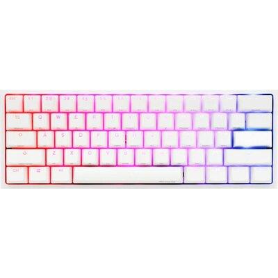Геймърскa механична клавиатура Ducky One 2 Mini V2 White RGB, Cherry MX Silver