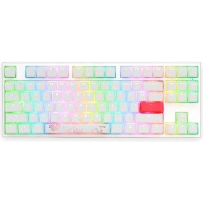 Геймърскa механична клавиатура Ducky One 2 TKL White RGB, Kailh BOX Red