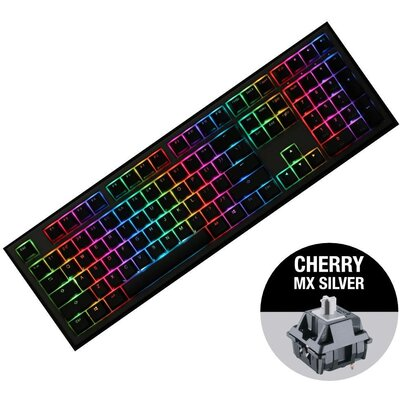 Геймърскa механична клавиатура Ducky Shine 7 Gunmetal Gray RGB, Cherry MX Silver