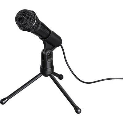 Настолен микрофон HAMA MIC-P35 Allround, за PC/лаптоп, 3.5 mm жак, Черен