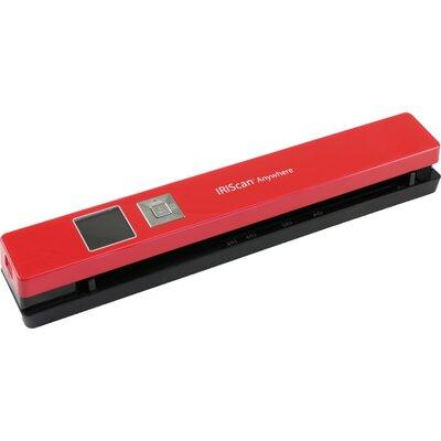 Преносим скенер IRIS IRIScan Anywhere5, A4, Червен, 8 стр/минута, 1200LiIon батерия