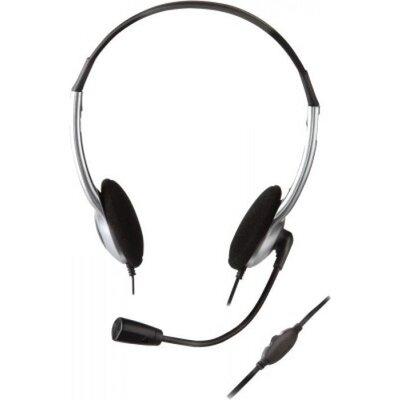 Слушалки CREATIVE HS-320, Скабел, 3.5 mm, Микрофон, Сребристи