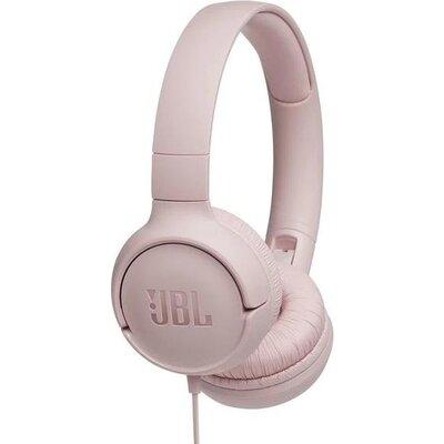 Слушалки on-ear JBL T500, Розов