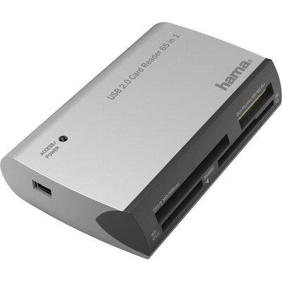Четец за карти HAMA All in One, USB 2.0, SD/microSD/CF/MS, 480 Mbps, Сребрист