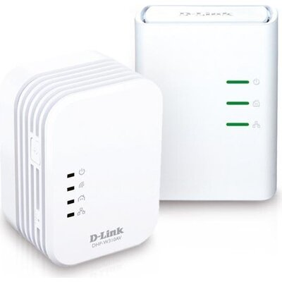 D-Link PowerLine AV 500 Wireless N Mini Extender, QoS, Common Connect Button, WPS, W311AV/E