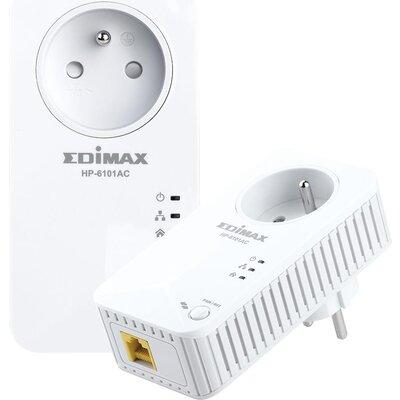 Комплект PowerLine адаптери EDIMAX HP-6101ACK 600Mbps, Ethernet и гнездо за ел.уреди