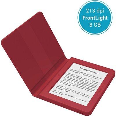 "eBook четец BOOKEEN SAGA, 6"", Силиконов калъф, Бордо"