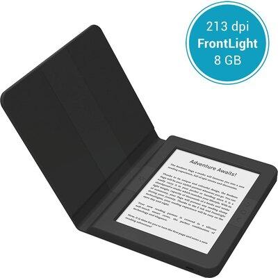 "eBook четец BOOKEEN SAGA, 6"", Силиконов калъф, Черен"