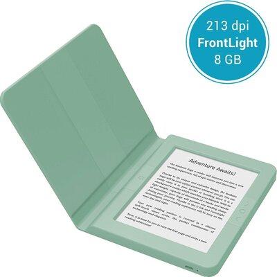 """eBook четец BOOKEEN SAGA, 6"""", Силиконов калъф, Зелен"""
