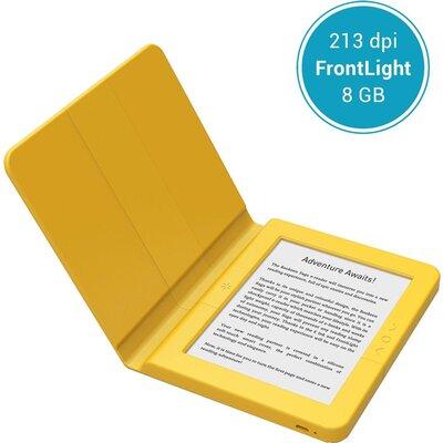 """eBook четец BOOKEEN SAGA, 6"""", Силиконов калъф, Жълт"""