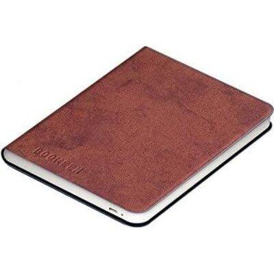 Калъф кожен BOOKEEN Classic, за eBook четец DIVA, 6 inch, магнит, Denim Brown