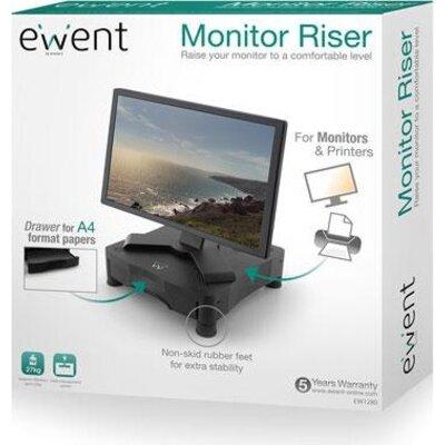 Стойка за монитор Ewent EW1280, за бюро, 27 кг, Черна