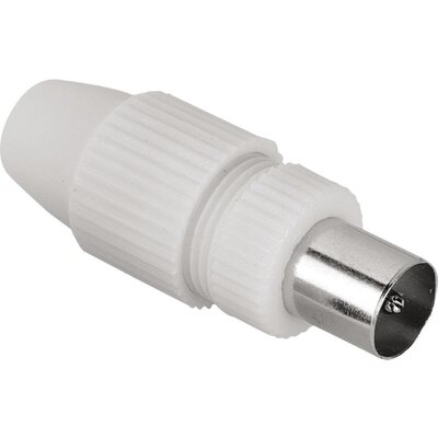 Коаксиален антенен конектор HAMA 122475, бял