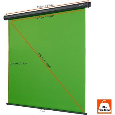 Зелен екран CELEXON Rollo Chroma Key Green Screen 200 x 190cm