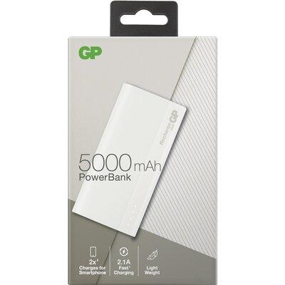 Външна батерия GP GPB05 , 5000 mAh, Бялa