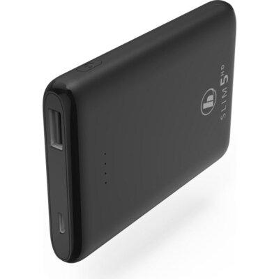 Външна батерия HAMA SLIM 5HD, 5000 mAh, LiPolym, USB-A, Черен