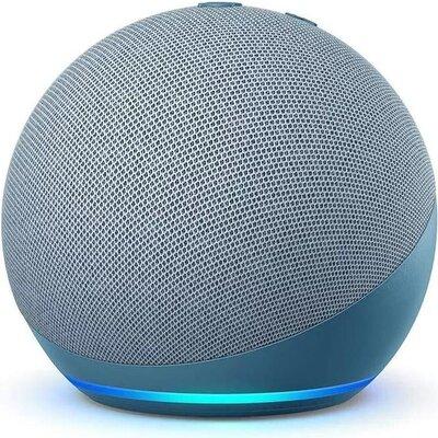 Преносима смарт тонколона Amazon Echo Dot 4 Charcoal, гласов асистент, Син