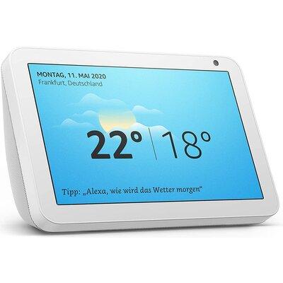 Смарт тонколона Amazon Echo Show 8, сензорен екран, гласов асистент, Бял