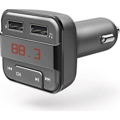 FM Трансмитер HAMA 183274, Bluetooth функция, Сив -