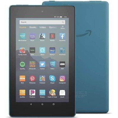 "Таблет Amazon Fire 7, Quad-Core 1.3 GHz, 7"", 1GB RAM, 16GB, Wi-Fi, Bluetooth, Тъмно син"