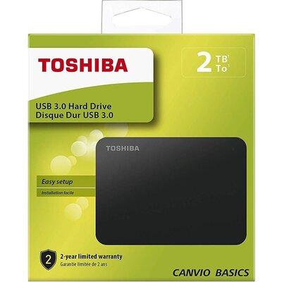 """Външен хард диск Toshiba Canvio Basics, 2TB, 2.5"""" HDD, USB 3.0"""