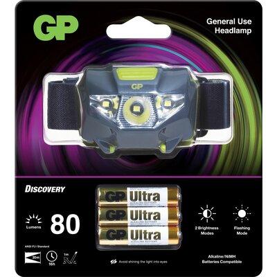 Челник/Фенер с диоди GP BATTERIES CH32 Entry level  с 3 батерии ААА 80 лумена