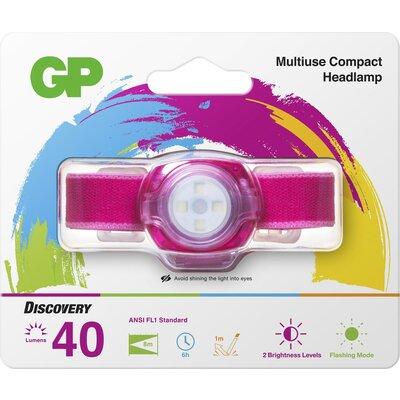 Фенер Челник GP BATTERIES CH31, LED KIDS /детски/ 40 лумена, лилав - GP-F-KIDS-CH31-PURPLE