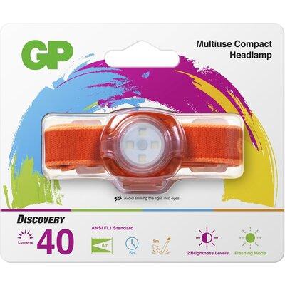 Фенер Челник GP BATTERIES CH31, LED KIDS /детски/ 40 лумена, оранжев - GP-F-KIDS-CH31-ORANGE