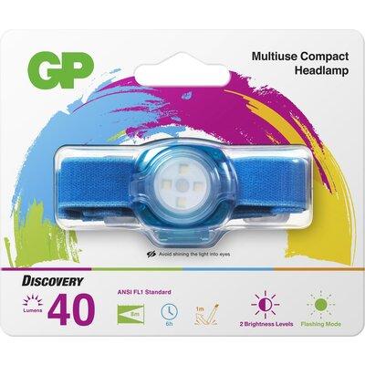 Фенер Челник GP BATTERIES CH31, LED KIDS /детски/ 40 лумена, син - GP-F-KIDS-CH31-BLUE