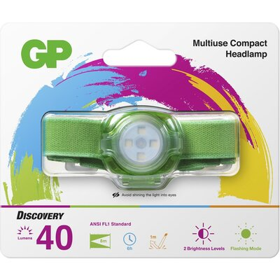 Фенер Челник GP BATTERIES CH31, LED KIDS /детски/ 40 лумена, зелен - GP-F-KIDS-CH31-GREEN