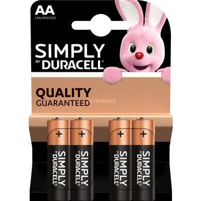 Алкална батерия DURACELL Simply LR6 /4 бр. в блистер/ 1.5V