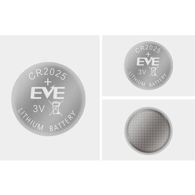 Бутонна батерия литиева CR 2025 1pc  bulk 3V  EVE BATTERY