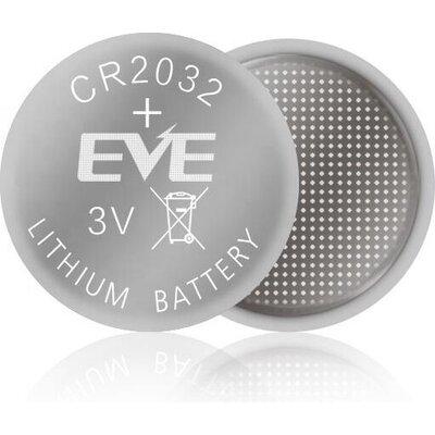 Бутонна батерия литиева CR 2032 1pc  bulk 3V  EVE BATTERY