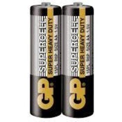 Цинк карбонова батерия GP R6  SUPERCELL 15PL-S2 /2 бр. в опаковка/ shrink 1.5V