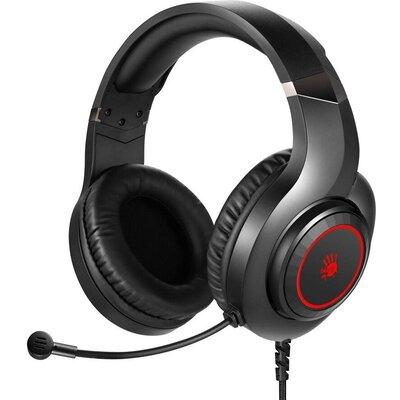 Геймърски слушалки A4TECH Bloody G220S, Микрофон, Черно/Червено