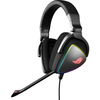 Геймърски слушалки ASUS ROG Delta Hi-Res ESS Quad-DAC, Aura Sync, Черен