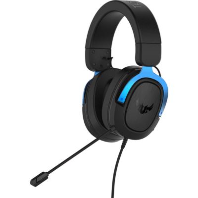 Геймърски слушалки ASUS TUF Gaming H3 Blue, 7.1 Virtual Surround Sound