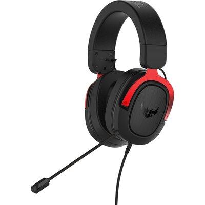 Геймърски слушалки ASUS TUF Gaming H3 Red 7.1 Virtual surround sound