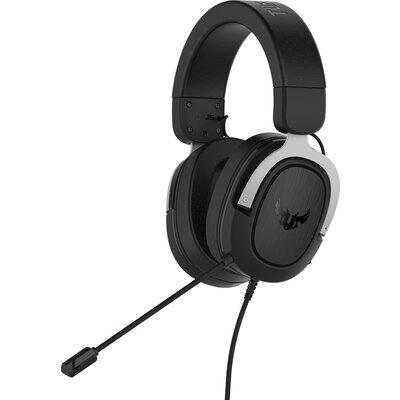 Геймърски слушалки ASUS TUF Gaming H3 Silver 7.1 Virtual surround sound