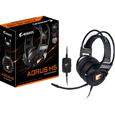 Геймърски слушалки Gigabyte Aorus H5 RGB Fusion - AORUS H5